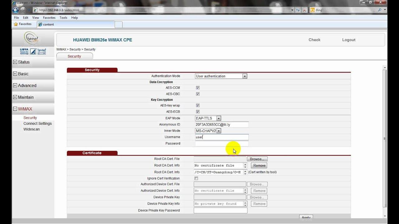 اعدادت HUAWEI BM626e WiMAX CPE wmv | FunnyDog TV