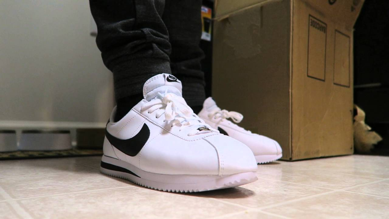 hot sale online a5bbe 8e729 Nike Cortez Shoe On Feet Review Including Sizing - YouTube