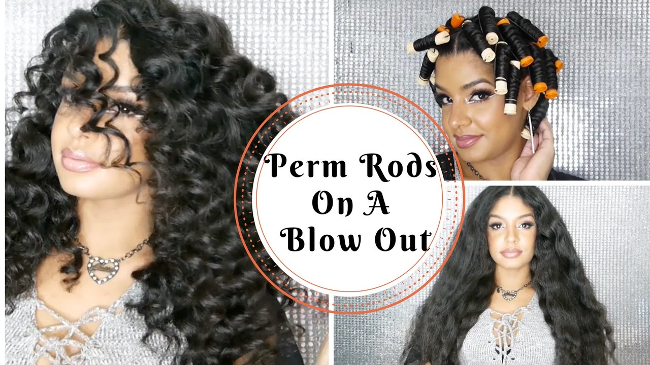 Perm Rod Set On Blown Out Stretched Natural Hair Tutorial Youtube