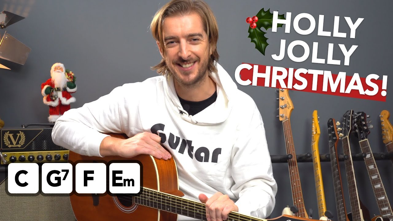 """Learn to play """"Holly Jolly Christmas"""" with simple chords & embellishments"""