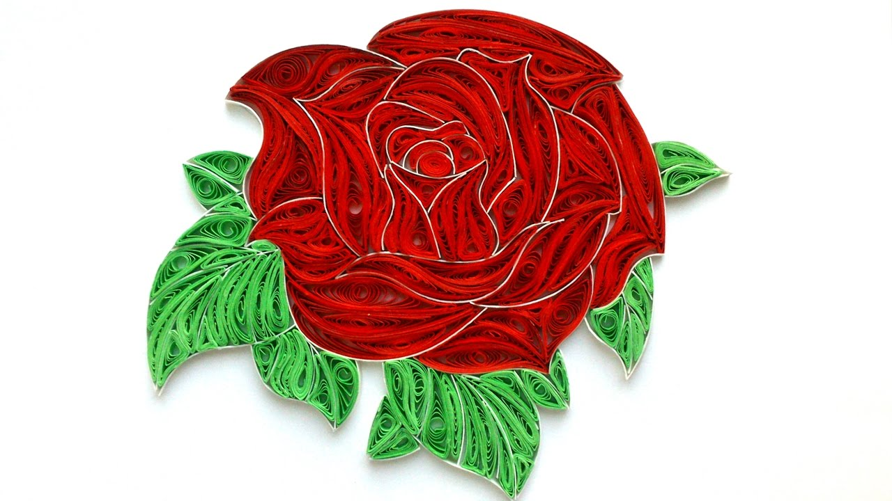 Quilling Rose Tutorial How To Make A Rose From Paper Quilling