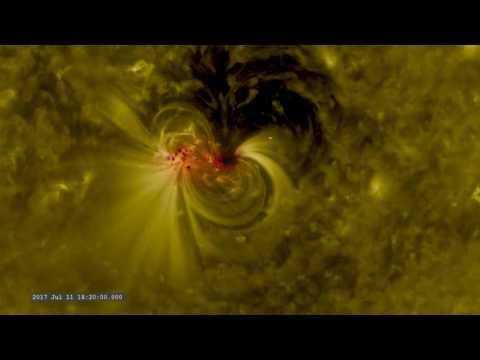 Massive Sunspot Tracked by NASA Satellites