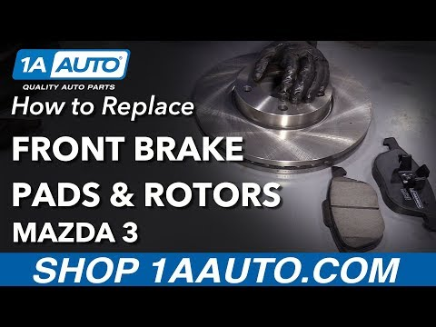 How to Replace Front Brakes 06-13 Mazda 3