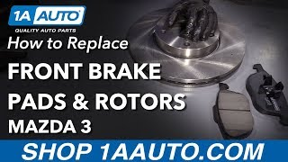 How to Replace Front Brake Pads and Rotors on a 2007 Mazda 3