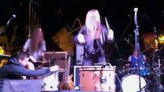 Haim drum solo (Live at New Noise Block Party 2013, Santa Barbara)