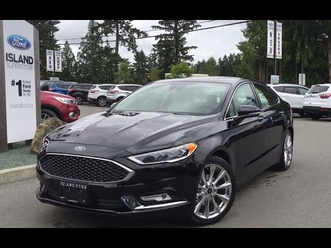 2017 Ford Fusion Platinum AWD Ecoboost Leather Review | Island Ford