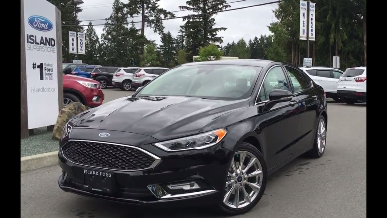 2017 Ford Fusion Platinum Awd Ecoboost Leather Review Island