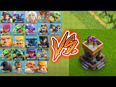 MAX ARCHER TOWER VS ALL TROOPS !!!defense Vs Troops😎who Can Survive🌹🔥Unity Clash🔥😱