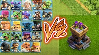 MAX ARCHER TOWER VS ALL TROOPS !!!defense vs troops😎whi can survive🌹🔥Unity clash🔥😱