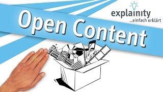 Open Content einfach erklärt (explainity® Erklärvideo)