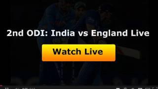 2nd ODI: India vs England Live Streaming Cricket Video