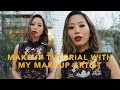 Fall Smokey Eyes & Red Lip Makeup Tutorial | Aimee Song