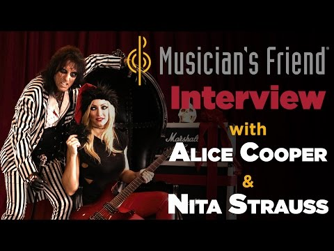Musician's Friend Interview with Alice Cooper & Nita Strauss