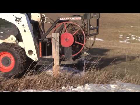 Pulling Wood Fence Posts with Dakota Wire Winder and Post Puller