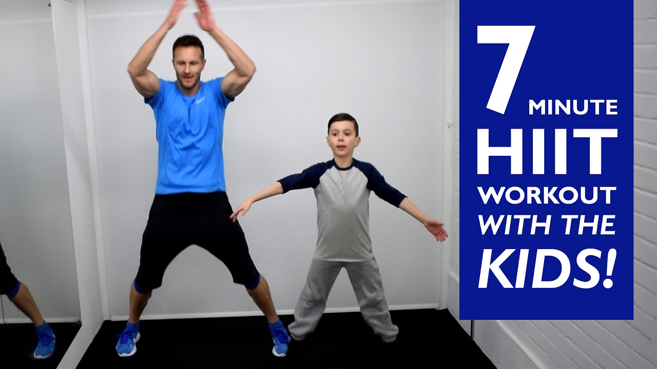 Hiit Workout With The Kids At Home Youtube