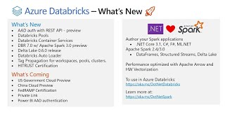 Azure Databricks and Spark- What's new & best practices | INT127A