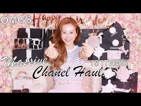 $21,000-chanel-metiers-d'art-2020-haul-|-15-unboxings-🤩-it's-my-birthday-+-giveaway-💖🦄-lindiess