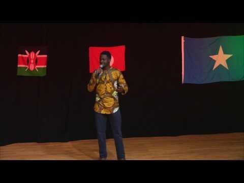 Student  Celebrates a Continent
