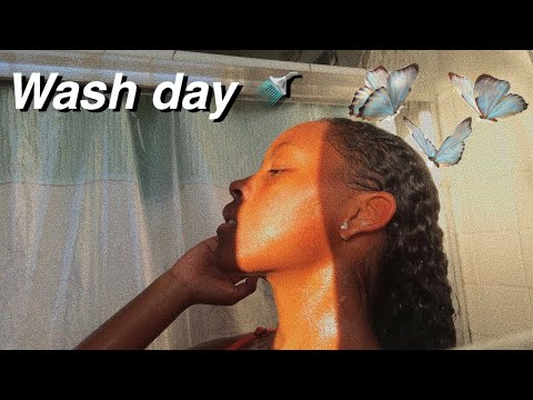 NATURAL CURLY HAIR *WASH DAY* ROUTINE 2018