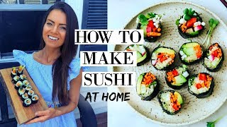 HOW TO MAKE SUSHI | VEGAN, EASY, CHEAP