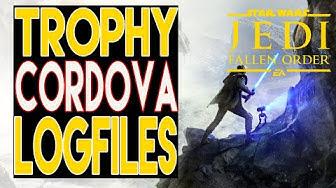 Star Wars Jedi Fallen Order Guide - Alle Cordova Log File - Datenträger Trophy / Achievement