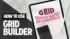How To Use Grid Builder - Layout Composer (iPad/Procreate)