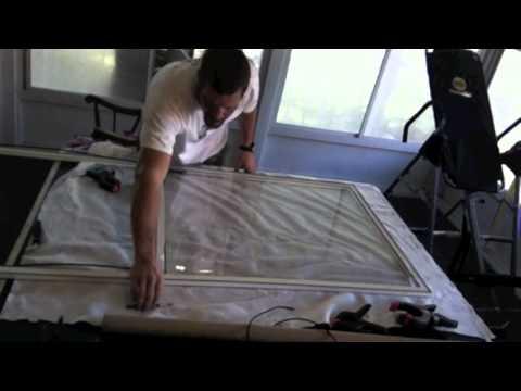 how to re-roll vinyl windows