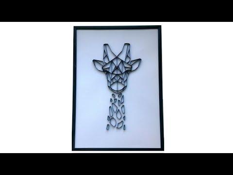 How to Make a Geometric Giraffe - Paper Wall Decor.