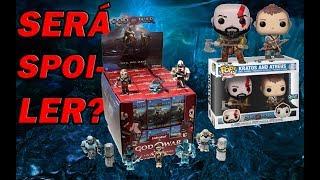 Os novos bonecos de god of war trouxeram spoilers de um inimigo e uma veste para Kratos