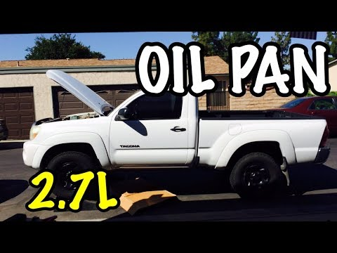 2005 - 2018 Tacoma Oil Pan 2.7L Liter Removal Replacement - 4Runner Toyota Hiace