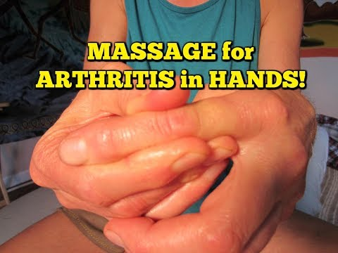 * Arthritis Pain RELIEF *  Massage Exercises!  FREE & EASY!