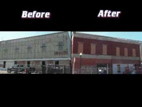 Blast it clean exterior brick paint removal youtube - How to clean brick house exterior ...