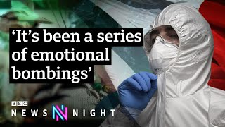 Coronavirus: Inside Europe's ground zero intensive care unit - BBC Newsnight