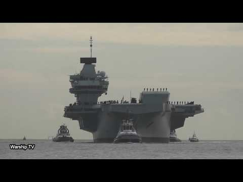 HMS QUEEN ELIZABETH R08 RETURNS HOME FROM F35 TRIALS IN THE UNITED STATES - 10th December 2018