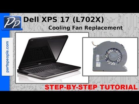 Dell XPS 17 (L702X) Cooling Fan Replacement Video Tutorial Teardown