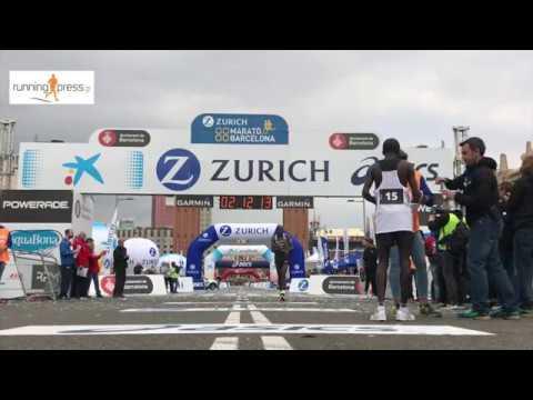 Barcelona Marathon 2017. Finish line