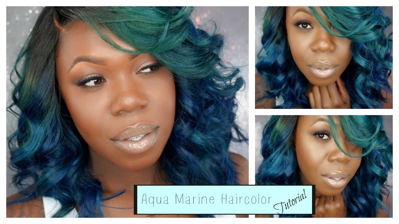 Tutorial Alimoda Hair Aqua Blue Haircolor Full Color Tutorial