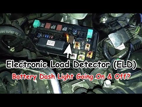 Battery Dash Light On & Off? Honda Electronic Load Detector Malfunction