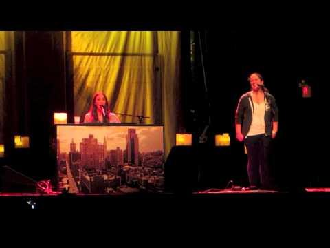 Sara Bareilles & Sarah Vanderzon (fan from audience) sing Fairytale in Toronto
