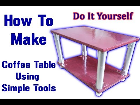 How To Make DIY Plywood Coffee Table with PVC pipes - Best Table Ever