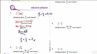 Problemler - Orantı(içler-dışlar çapımı) (Tyt) - 9. SINIF 3. FASİKÜL SAYFA 6