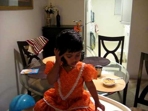 Unlimited Calls to India- Arya talking to her grandma -19 months old