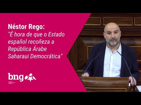"""Néstor Rego: """"É hora de que o Estado español recoñeza a República Árabe Saharaui Democrática"""""""