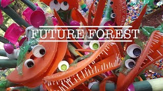 THE FUTURE FOREST - 3 Tons of plastic waste turned into a colorful forest.