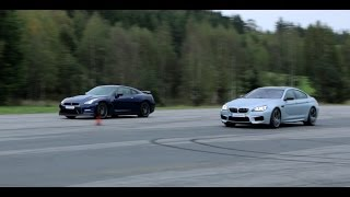 [4k] BMW M6 Gran Coupe vs Nissan GT-R 550 HP (both stock) in Ultra HD