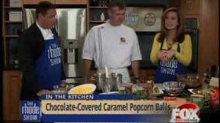 Chocolate-covered Caramel Popcorn Balls