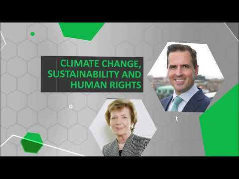 Mary Robinson speaking at #IDA2021 about Climate Change, Sustainability and Human Rights
