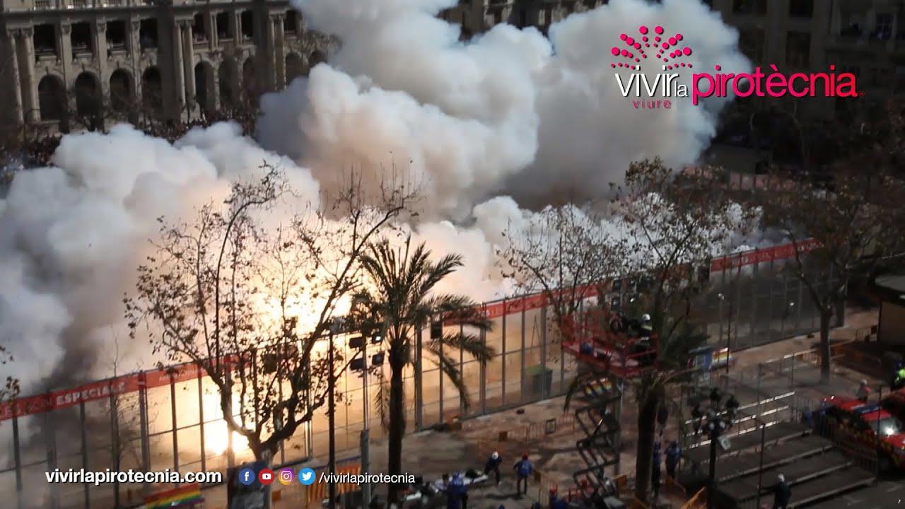 Fallas Valencia 2020. Mascletà Lunes 9 de Marzo 2020. Pirotecnia del Mediterráneo