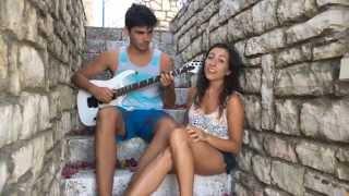 Titanium - David Guetta ft. Sia (Cover by Angie Travlos and Babis Patsalias)