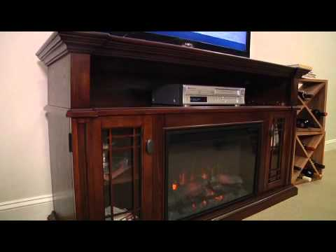 Wallace Electric Fireplace Entertainment Center - YouTube